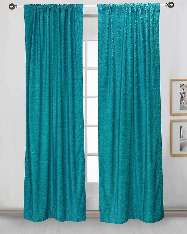 t rkise tasche samt gardinenstangen drapieren panel st ck fruugo. Black Bedroom Furniture Sets. Home Design Ideas