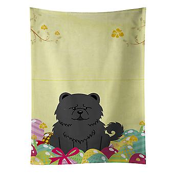 Carolines Treasures  BB6143KTWL Easter Eggs Chow Chow Black Kitchen Towel