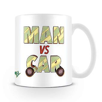 Rick and Morty Mug Man vs Car new Official White Boxed