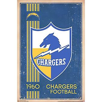 San Diego Chargers - Retro-Logo 14 Poster Plakat-Druck
