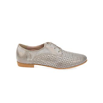 Donnapiu' 52809LUNASUNPIOMBO grey LEDER ladies lace-up shoes