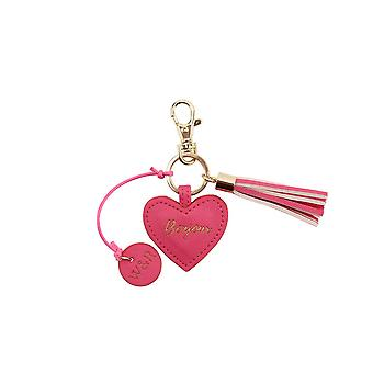 CGB Giftware Willow And Rose Bonjour Fuchsia Keyring