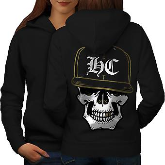 Skull Swag Gamer Women BlackHoodie Back | Wellcoda