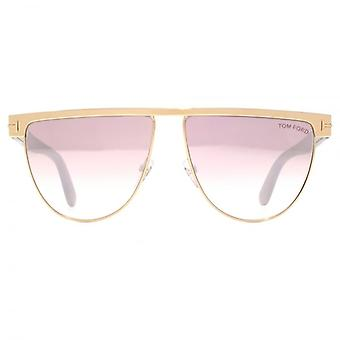 Tom Ford Stephanie 02 Sonnenbrillen In Shiny Rose Gold Pink