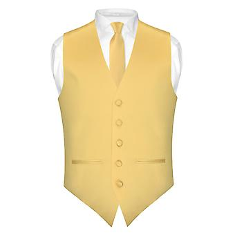 Mens SLIM FIT Dress Vest Skinny NeckTie 2.5