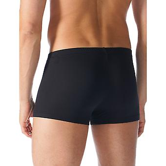 Mey 42627-123 Men's Software Black Solid Colour Fitted Boxer