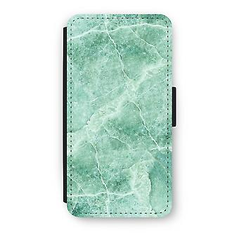 Huawei Ascend P10 Flip Case - Green marble