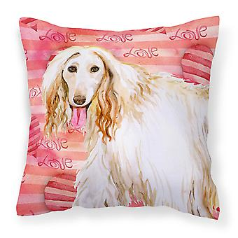 Carolines Treasures  BB9789PW1818 Afghan Hound Love Fabric Decorative Pillow