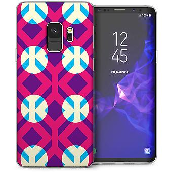 Samsung Galaxy S9 geometrische schijnwerpers TPU Gel geval – wit