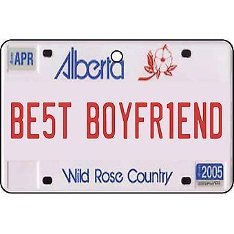 Alberta - Best Boyfriend License Plate Car Air Freshener