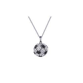 Die 300 Kristalle Swarovski Elements schwarz-weiß Fußball Kugel Halskette