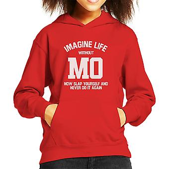 Imagine Life Without Mo Saleh Now Slap Yourself Kid's Hooded Sweatshirt