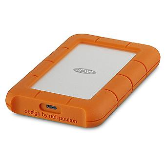 LaCie external hard disc 6.35 cm (2.5 Zoll) 2 TB Rugged silver, Orange USB-C