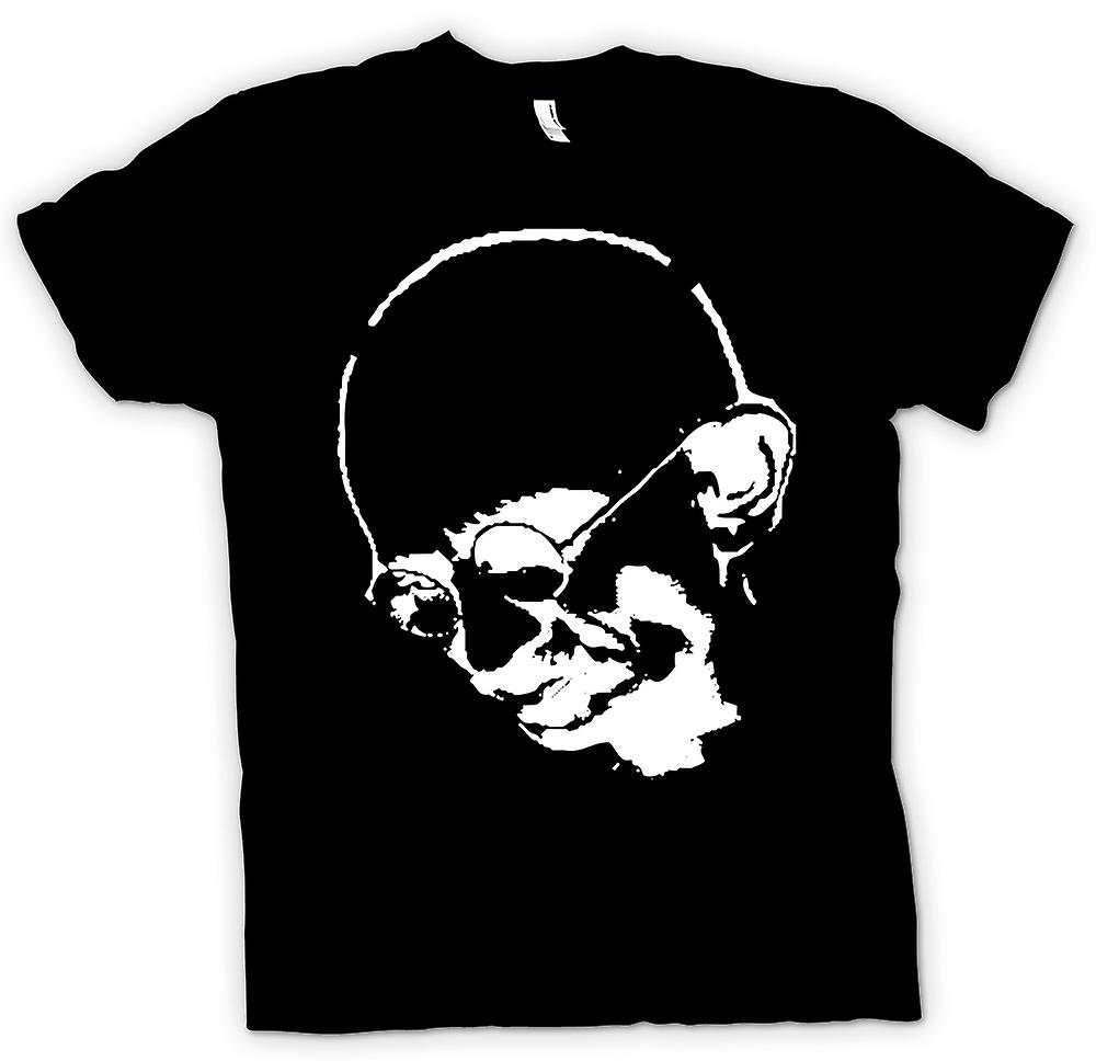 Mens T-shirt - Ghandi - Indian - Hippy - Peace