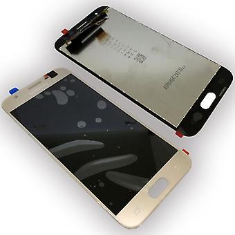 Wyświetlacz LCD kompletny zestaw GH96 10990A złota dla Samsung Galaxy J3 2017 J330F