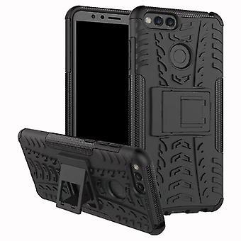 Pezzo di ibrido caso 2 il nero all'aperto SWL per Huawei honor 7 X Custodia coperchio di protezione