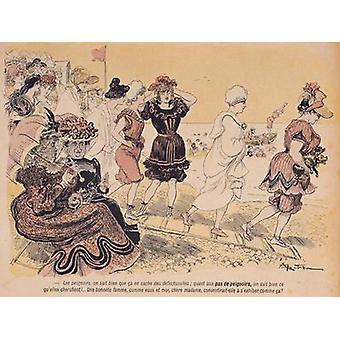 Bathers, from 'L'Assiette au Beurre', 30th.. - Art Print