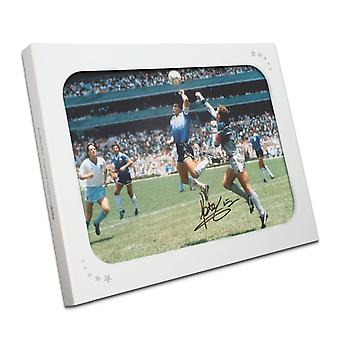 Peter Shilton Signed England Photo: The Hand Of God. In Gift Box
