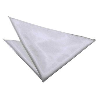 Silver Plain Satin Pocket Square