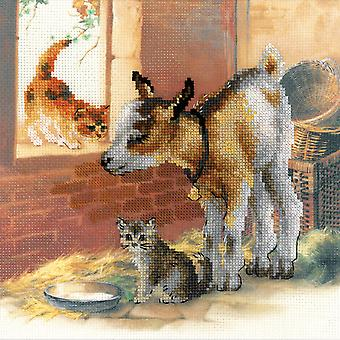 Goatling And Kitten Counted Cross Stitch Kit-11.75