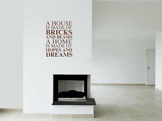 A house is made of Wall Art Sticker - Brown