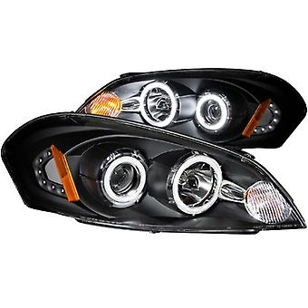 Anzo USA 121236 Chevrolet Black Clear Projector with Halos Headlight Assembly - (Sold in Pairs)