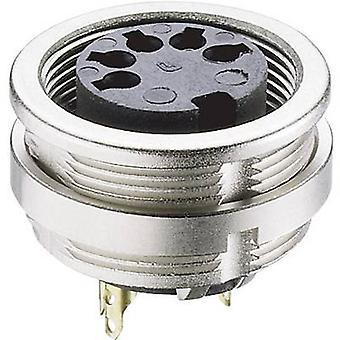 DIN connector Socket, vertical vertical Number of pins: 8 Silver Lumberg 0304 08 1 pc(s)