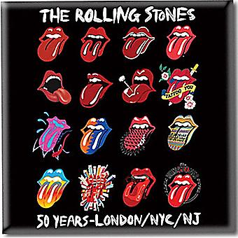 Rolling Stones Tongue Evolution Steel Fridge Magnet