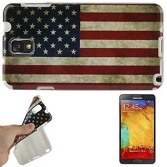 Hülle Retro Flagge TPU Tasche für Samsung Galaxy Note 3 N9000