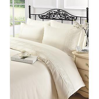 Charlotte spets Modern Quilt påslakan sängkläder med örngott alla storlekar