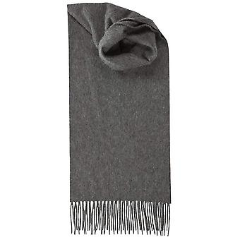 Johnstons of Elgin Lambswool Plain Scarf - Mid Grey