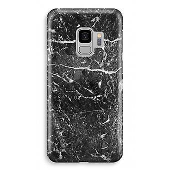 Samsung Galaxy S9 Full Print Fall (glänzend) - schwarzem Marmor