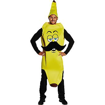 Banana man with mustache men's costume Carnival