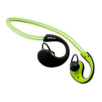 Groov-e GVBT800GN Action Wireless Bluetooth Sports Headphone with LED Neckband