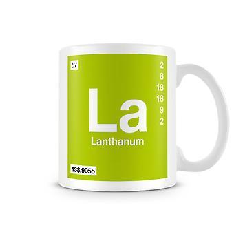 Scientifico stampato tazza con elemento simbolo 057 La - lantanio