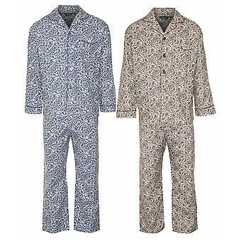 Champion Mens Paisley brossé Pyjama de coton (lot de 2)