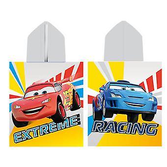 Serviette poncho éponge Cars Disney par Caleffi