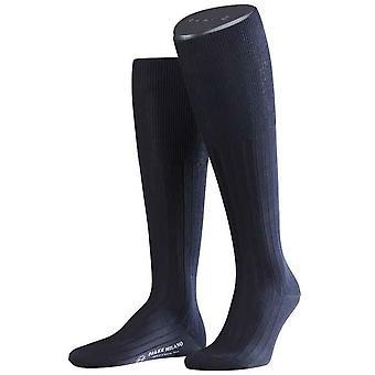Falke Milano Socken Knie hoch - dunkelblau