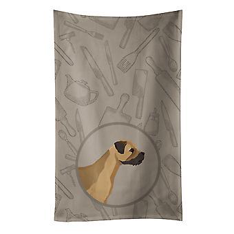 Carolines Treasures  CK2170KTWL Border Terrier In the Kitchen Kitchen Towel