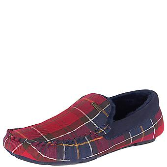 Mens Barbour Monty Tartan Classic Winter Fur Lined Cosy Warm Slippers