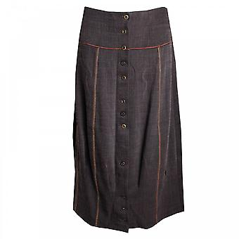 Pause Cafe Long Woven Skirt Tulip