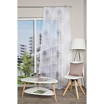 «Hogar ideas interiores 1 x la cortina» RAWLINS «cinta gasa impresa H/W 245 x 140 cm.