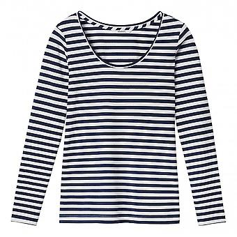 Sandwich Long Sleeved Striped Ladies Top - 21101666