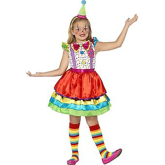 Deluxe Clown Girl Costume, Small Age 4-6