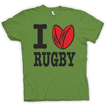 Womens T-shirt - I Love Rugby