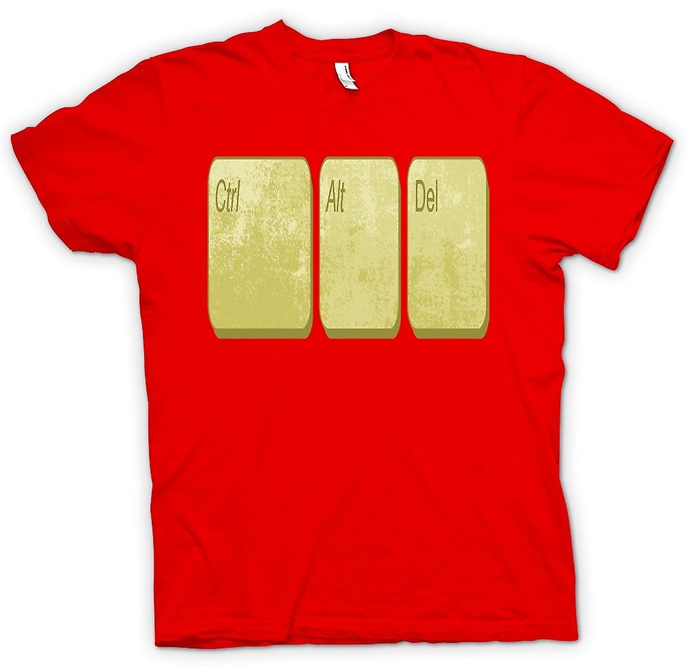 Herr T-shirt - kontrollera Alt Delete - rolig