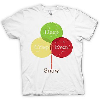 Deep Crisp Even Snow - Funny - 100% Cotton Short Sleeve Ladies T Shirt