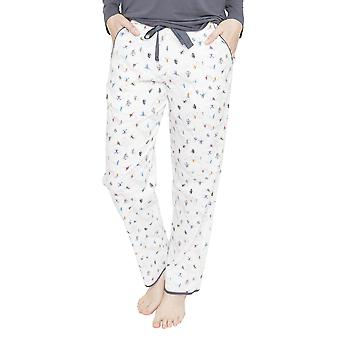 Cyberjammies 4085 Frauen Aspen White Ski Print Pyjama Pant