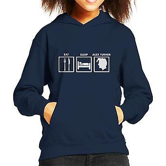 Eat Sleep Alex Turner Kid's Hooded Sweatshirt