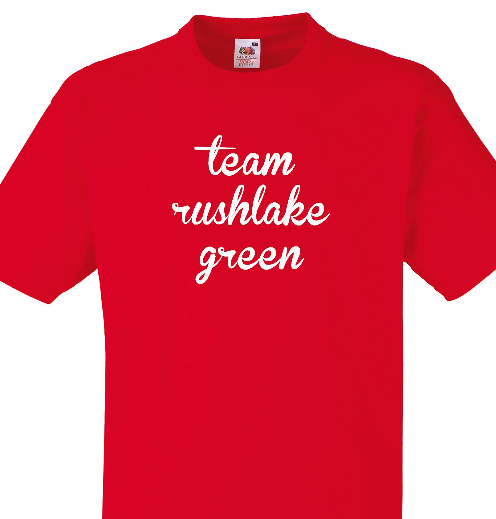 Team Rushlake green Red T shirt